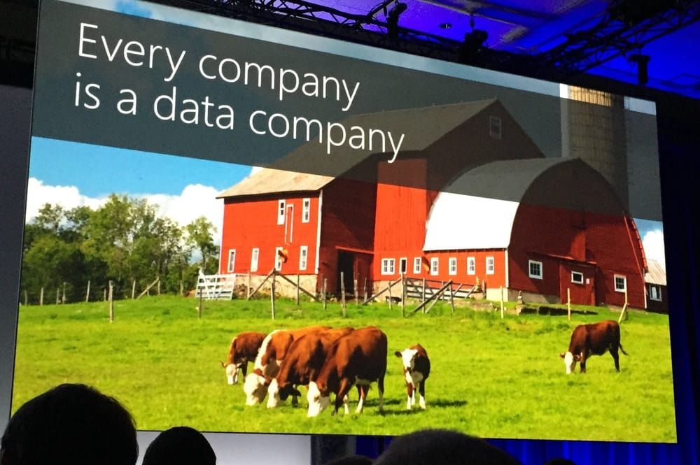 Even dairy farms needs data analysis in the cloud.