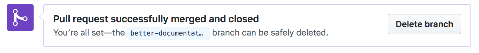Push Delete branch to delete this branch on GitHub