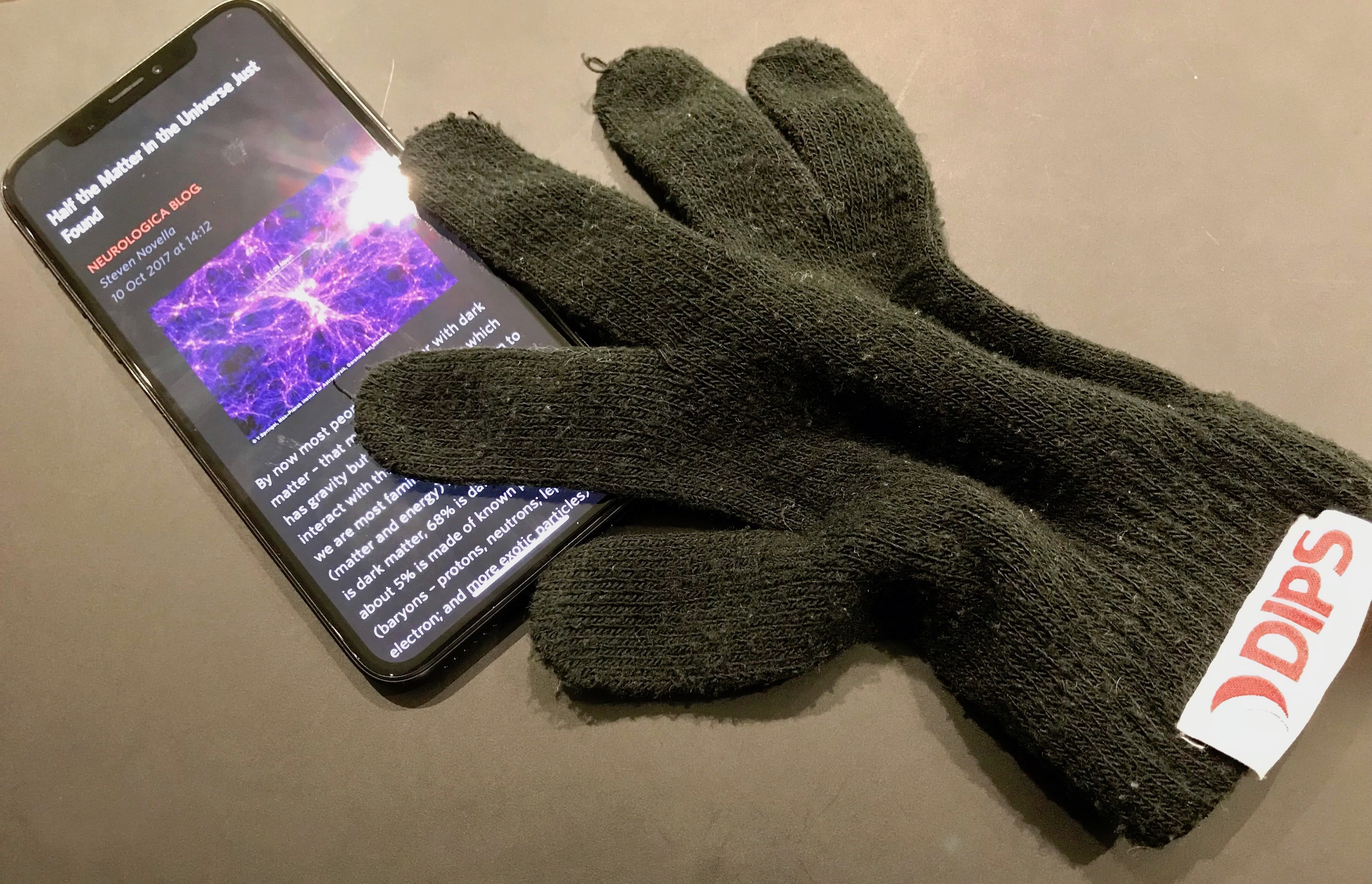 Even with awesome touch enabled gloves, DIPS edition, iPhone X is amazing!