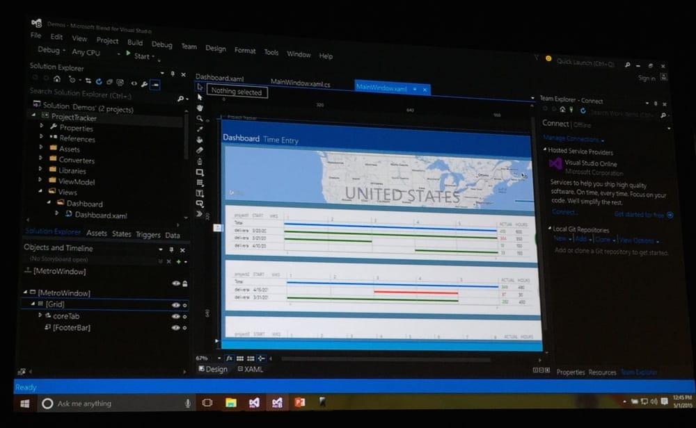 XAML Tools in Visual Studio 2015